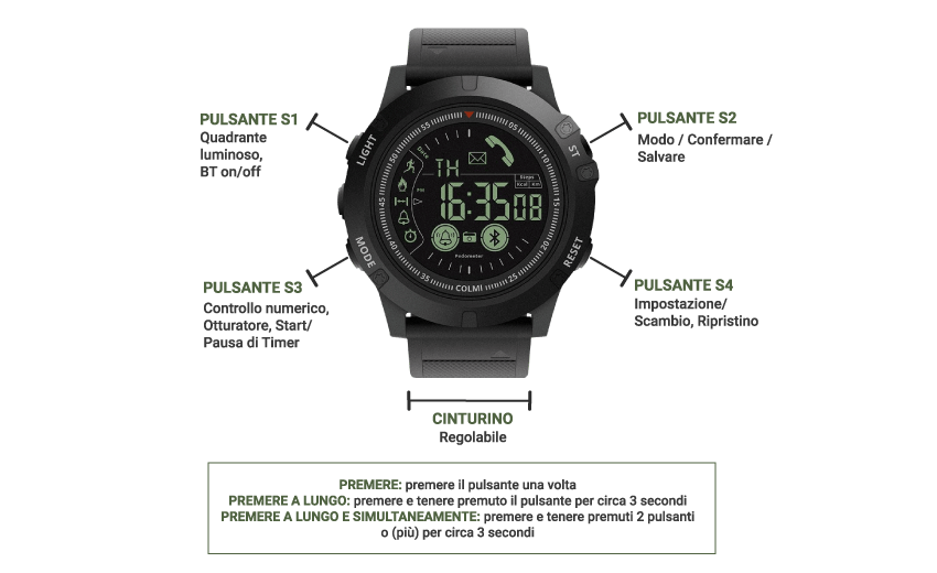 come si usa x-tactical watch
